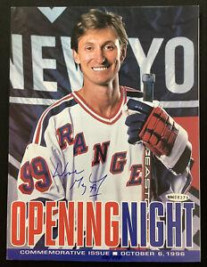 Wayne Gretzky Signed Game Night Mag 10/6/96 Rangers Hockey Auto Upper Deck Holo