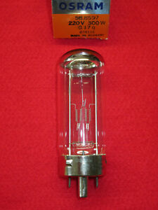 PROJEKTORLAMPE 220V 300W G17q Osram 58.8597 NEU OVP Lampe Projektor 588597