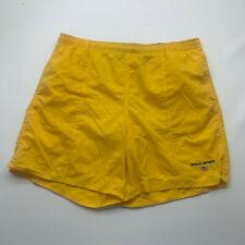 Polo Sport Swim Trunks Adult Medium Yellow Logo Bathing Suit Shorts Men U200