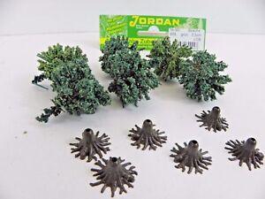 6 Büsche grün mit Fuß Höhe ca. 3-3,5 cm Eisenbahn Modellbau Jordan 9 D 45207 B