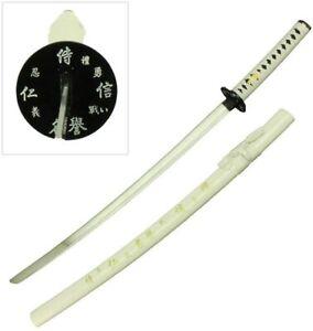 "39"" Japanese Samurai Writing Sword White or Red Carbon Steel Katana Ninja & Bag"