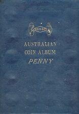 AUSTRALIAN  PENNY SET OF COINS - COMP EX FOR 25-30-46   IN HENDO ALBUM