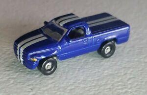 Racing Champions Motor Trend Micro Dodge Viper Blue Silver Truck Team Ram 1:144