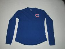 Chicago Cubs Girl's Team Athletics Blue Long Sleeve Shirt Size L 14