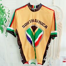 Men's South Africa Flag 3/4 Zip Cycling Jersey Shirt Bike XXL 2XL Multicolored