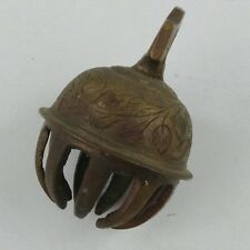 """dc Brass Elephant Claw Bells Etched Great Patina 1-5/8"""" Width X 2-1/4"""" Height"""