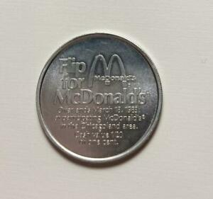 Vintage 1983 Flip For McDonald's Save 25 Cent Token Advertising Chicagoland