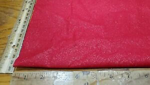 """CHRISTMAS RED W/ GOLD GITTER ALLOVER COTTON BROADCLOTH FABRIC BY 1/2 X 44"""""""