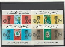 Qatar 1966 football soccer world cup England London S/S set MNH**, 2 with spots