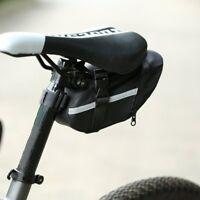 Black Rear Storage Seat Waterproof Bag Pouch Bike Bicycle Saddle New Tail HC