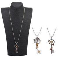 2Pcs Vintage Antique Steampunk Gear Key Pendant Necklace Gothic Jewelry Gift