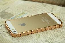 Schmuck Kette Schutzhülle Case Bumper Cover Rahmen Gold Farbe für iPhone 5 5S SE