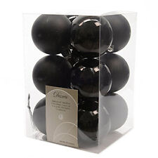 12 Luxury Shatterproof Christmas Baubles Decorations - Black - 340586 1
