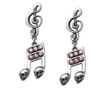 DTO. -10% ! ULFE17 PENDIENTES CALAVERAS Y NOTAS MUSICALES/DEAD NOTE EARRINGS BY