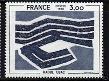 "FRANCE STAMP TIMBRE 2075b "" UBAC , VARIETE BEIGE OMIS "" NEUF xx TTB SIGNE"