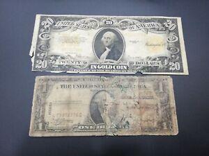 USA 1-20 DOLLARS 1922-1935 BANKNOTE