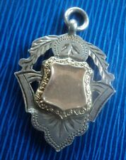 Vintage DOUBLE SIDED Stg. Silver & Gold Fob Medal - h/m 1909 Rolason Brothers