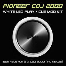 PIONEER CDJ 2000 / Nexus Bianco Play o CUE LED MOD KIT (per 2 x cdjs) djm ddj
