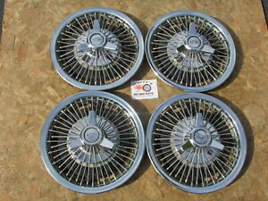 """1964-66 CHEVY IMPALA, NOVA, II 14"""" WIRE SPINNER WHEEL COVERS, HUBCAPS, SET OF 4"""