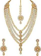 Traditional Indian Bridal Dulhan Set Gold Plated Multi Strands Ethnic Jewelry