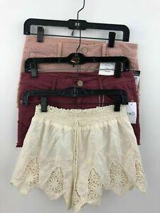 Rue 21 Denim Jean Shorts Sz 3/4 + Jc Penny Brand Medium Shorts Lot of 3 B38-07