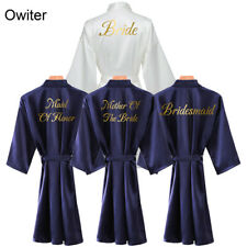 Silk Satin Robe Bride Bridesmaid Robes Wedding Bridal Robe Women Sleepwear Robe
