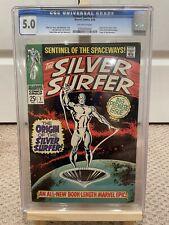 Silver Surfer 1 CGC 5.0 1st Silver Surfer & Watcher Origin 🔥 0361425003