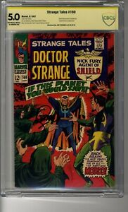 Strange Tales (1951) # 160 - CBCS 5.0 OW/W Pages - SS Steranko - Captain America