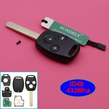 Replacement Remote Car Key 3 Button 433Mhz ID48 for Honda Accord CRV 2005-2006