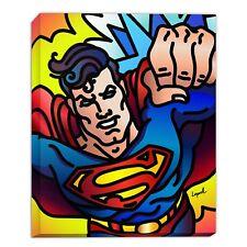 Superman 14 x 11 Gallery Wrap by Artist Lisa Lopuck - DC Art