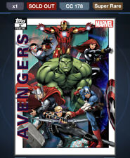 Topps Marvel Collect DIGITAL AVENGERS 1ST PRINTING AWARD 178CC AVENGERS