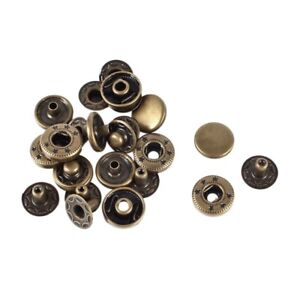 Finition en metal Boutons a pression attaches presse goujons boutons 12mm