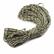25ft Mil-Type III Stand 7 Cores Paracord Parachute Cord Lanyard Camouflage #077