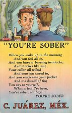Linen Alchohol Related You're Sober Ciudad Juarez Mexico Sobriety is the Problem
