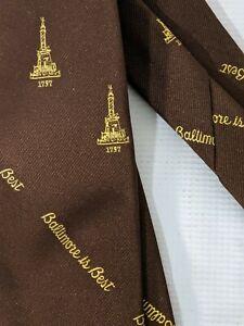 William Donald Schaefer City of Baltimore is Best Brown Necktie Tie
