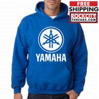 YAMAHA HOODIE BLUE Racing Logo ATV Hooded OEM R1 Auto Sweatshirt Race Motocross