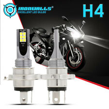 2pcs H4 9003 HB2 LED Bulb Hi-Lo Beam HID 6000K White HS1 Motorcycle Headlight US