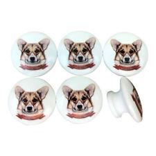 Set of 6 Pembroke Welsh Corgi Dog Cabinet Knobs Drawer Knobs
