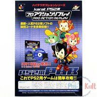 Flyer Pro Action Replay Karat Chirashi Handbill A4 Playstation 2 PS2 Promo VGC