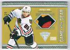 2011-12 TITANIUM GAME-WORN GEAR PATRICK KANE PATCH 3 COLORS 19/25 CHICAGO