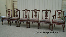 60197 Set 6 Solid Mahogany Dining Room Chairs