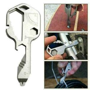 24 IN 1 Multi-Tool Key Shaped Pocket Tool For Keychain w/Bottle Opener Portable