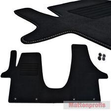 Premium Velour Fußmatten passend für VW T5  3- Sitzer vorn ab Bj.2003 - sw