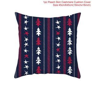 Santa Clause RainDeer Christmas Cushion Covers Merry X-Mas Home Deco Pillow Case