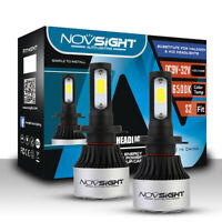 2X NOVSIGHT H7 LED Headlight Kit Light Bulbs Lamp 9000LM 72W White Beam 6500K