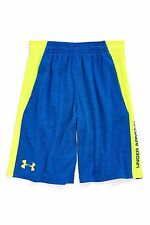 UNDER ARMOUR TECH SHORTS BIG BOYS SIZE LARGE NEW WITH TAGS ROYAL HI-VIS YELLOW