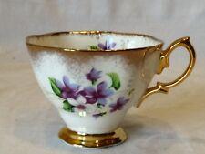 Royal Albert Fine Bone China England Tea Cup Purple Verbena Flowers