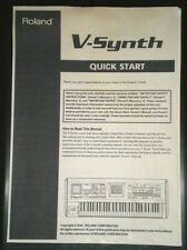 ROLAND V SYNTH quick start (34 pages) & owner's manual (180 pages) synth manuals