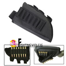 Left Hand Tactical Rifle Shotgun Butt Stock Ammo Shell Mag Pouch Holder Hunting