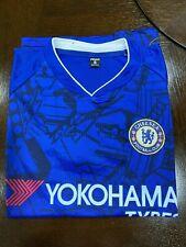 Chelsea Football Club T Shirt Soccer Jersey Blue Short Sleeve Small